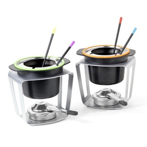 Stöckli FondueFun Fondue Set grün u. orange
