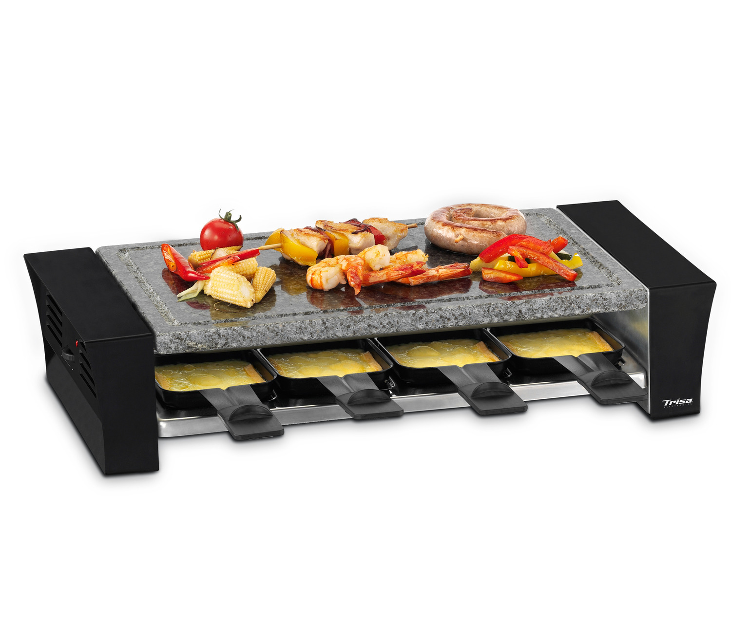 trisa raclettino 8 raclette grill. Black Bedroom Furniture Sets. Home Design Ideas