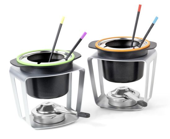 Stöckli FondueFun Fondue-Set grün u. orange