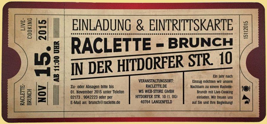 raclette-brunch sorgte für volles haus bei raclette.de, Einladung