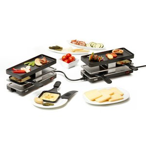 Funcooking - Stöckli Twinboard Set anthrazit  - Onlineshop Raclette