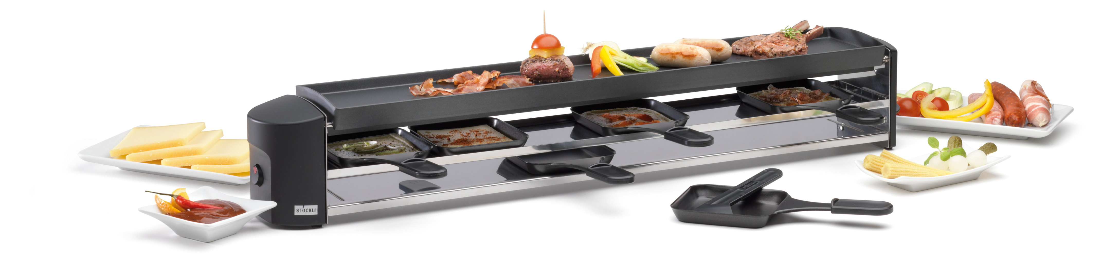 st ckli cheeseboard six raclette grill. Black Bedroom Furniture Sets. Home Design Ideas