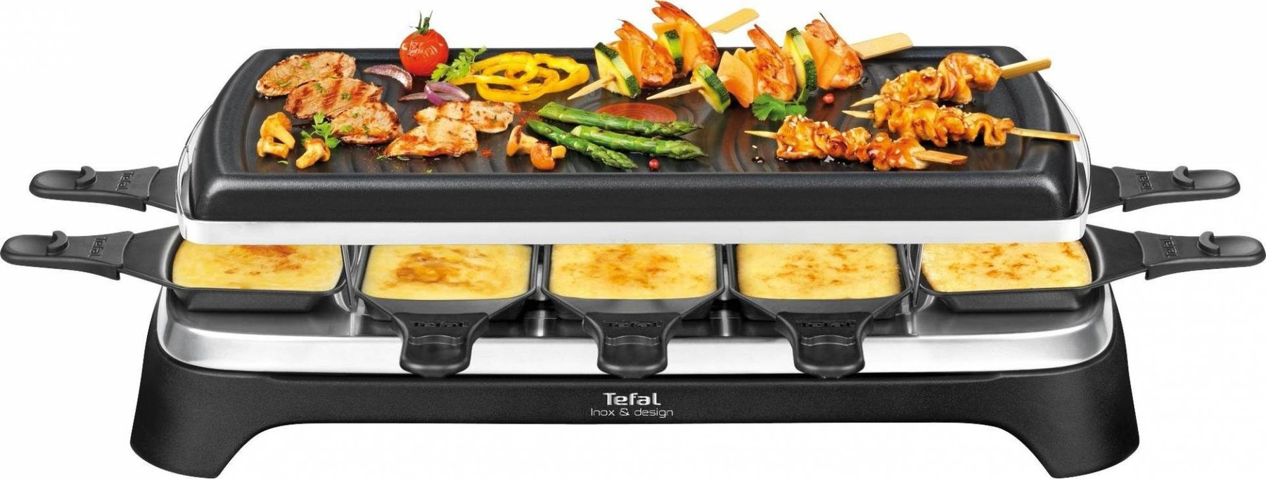 tefal raclette grill f r 10 personen. Black Bedroom Furniture Sets. Home Design Ideas