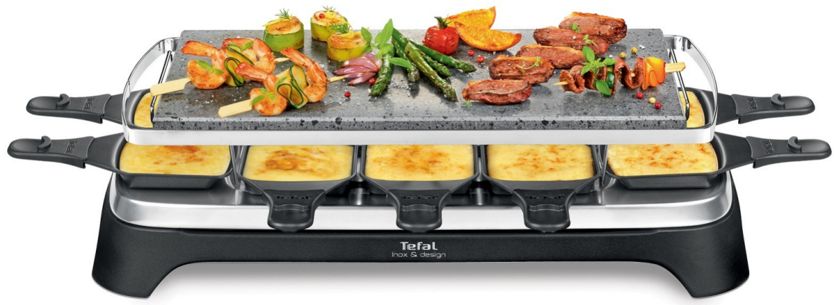 tefal pierrade raclette grill mit 10 pf nnchen. Black Bedroom Furniture Sets. Home Design Ideas