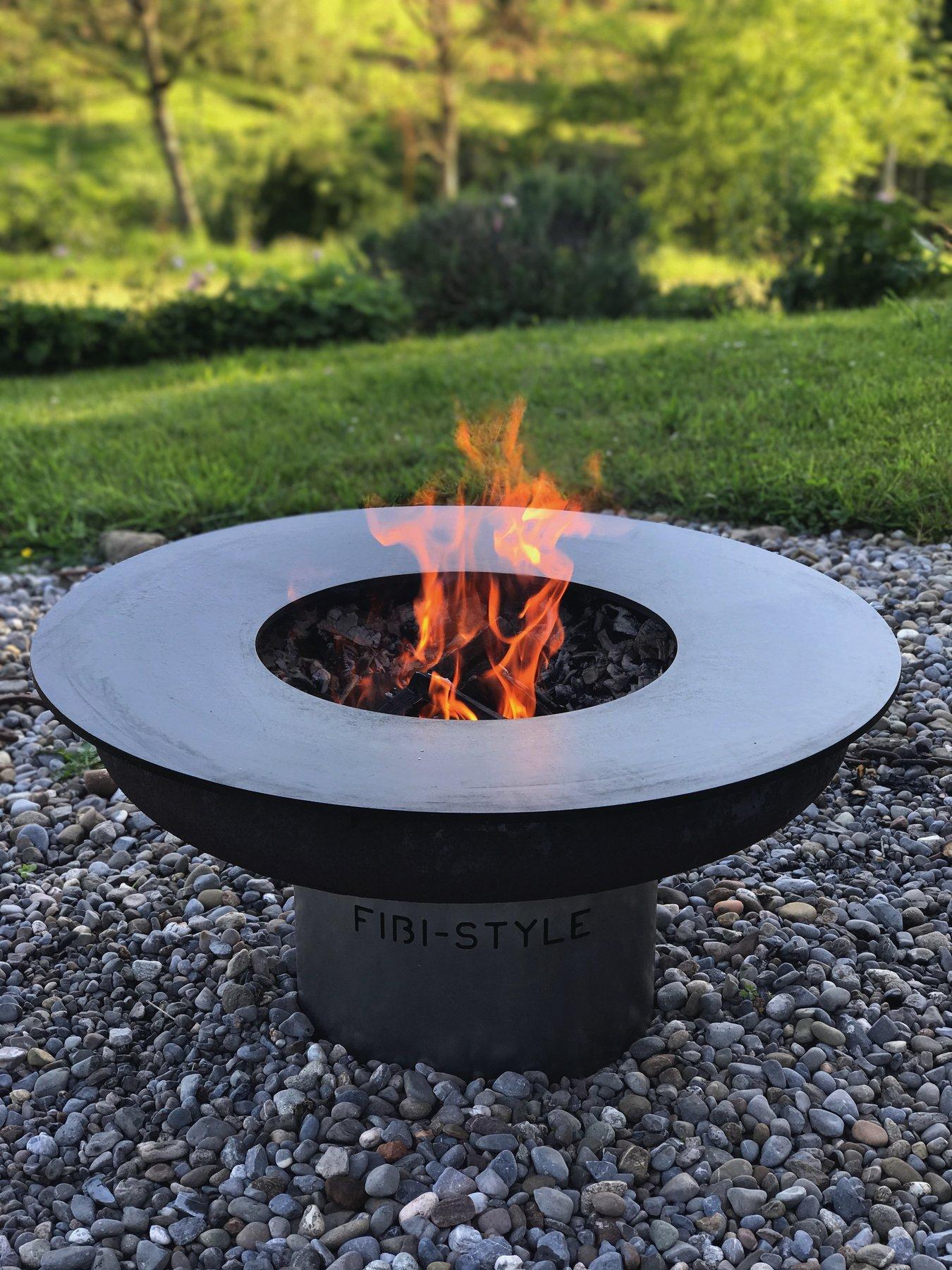 fibi style feuerschale mit grillring und sockel. Black Bedroom Furniture Sets. Home Design Ideas