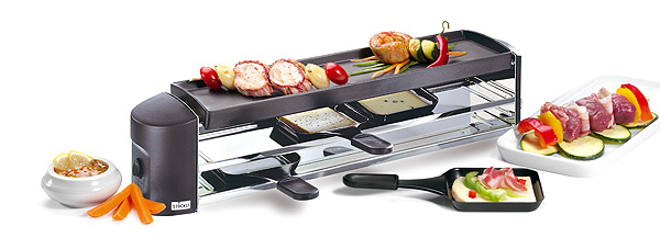 Stöckli Cheeseboard Grill anthrazit Raclette Grill