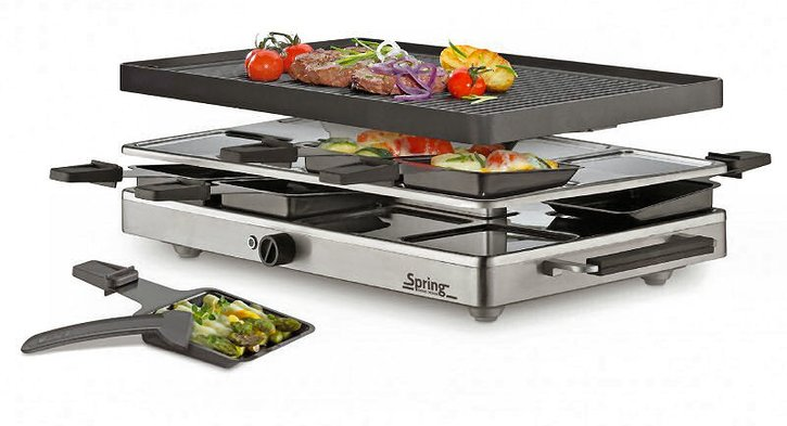 Spring Raclette 8 Inox Classic Grill