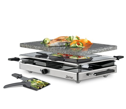 Spring Raclette 8 Classic Inox mit Granit-Stein