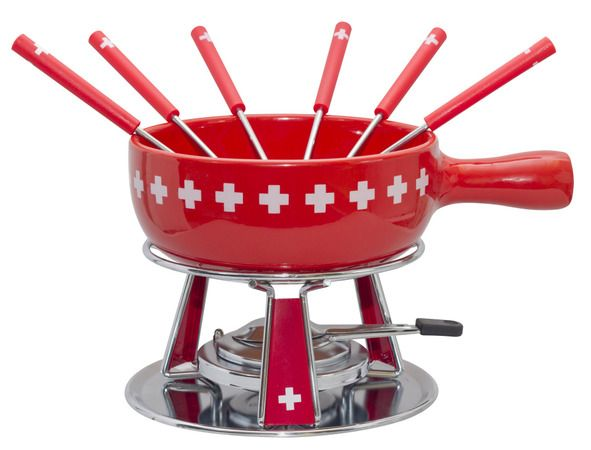 Nouvel Käsefondue-Set Switzerland Kreuzband