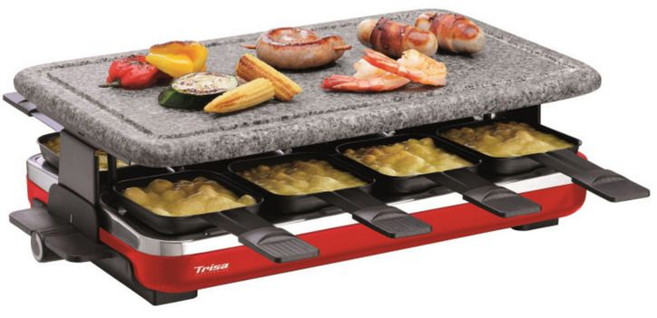 trisa hot stone 8er raclette grill kaufen. Black Bedroom Furniture Sets. Home Design Ideas