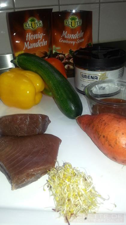 Thunfisch-Praline-Zutaten