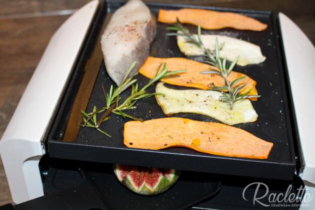 Heilbutt-Kartoffel-Carpaccio-Grill