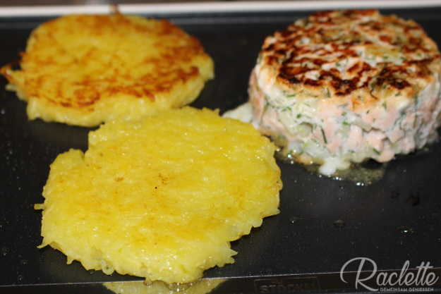 Lachsburger-Grill