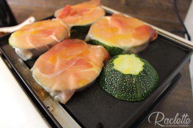 Zucchini-Lasagne-Grillplatte