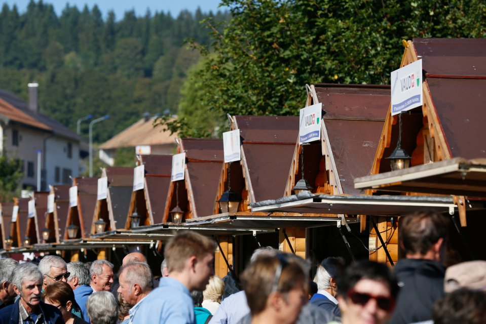 Käsemarkt in Les Charbonnieres anläßlich der Swiss Cheese Awards 2016